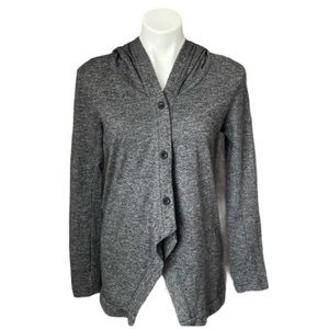 Lucy Passiflora Gray Hooded Cardigan